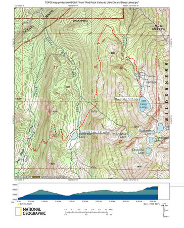 Red Rock Valley to Little Elk and Deep Lakes (Day-Hike Route)