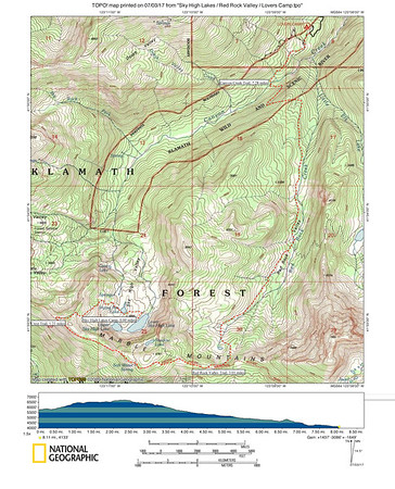 Sky High Lakes to Lovers Camp via Red Rock Valley (Alternate Return Route)