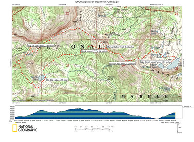 Sky High Lakes to Big Elk Lake (Day-Hike Route)