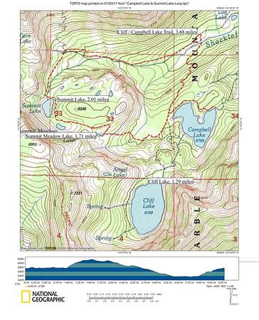 Campbell Lake to Summit Lake Loop (good day-hike)
