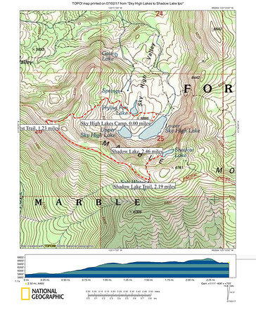 Sky High Lakes to Shadow Lake (Day-Hike Route)