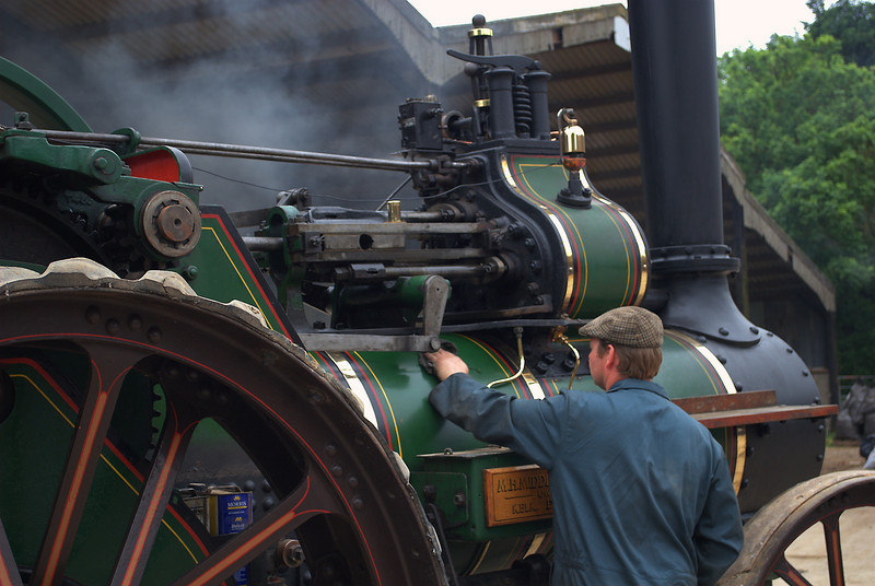 Getting up steam at Little Weighton, East yorks