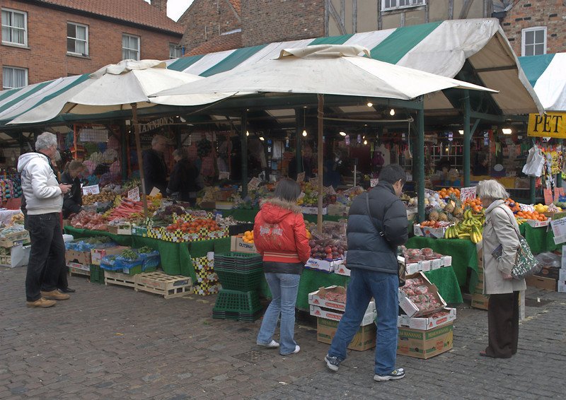 York Market, the shambles are to the left
