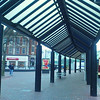 Hull city centre strange geometry of the pavement shelter