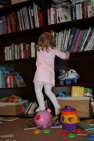 Reaching for Books 005