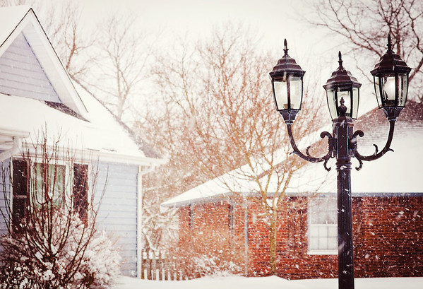 My lamp post in the snow<br /> <br /> Photographer's Name: Terry Lynn Ayers<br /> Photographer's City and State: Anderson , IN