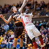 Terrence Campbell puts up a shot at the sectional against Monroe Central.<br /> <br /> Photographer's Name: Terry Lynn Ayers<br /> Photographer's City and State: Anderson, Ind.
