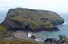 Tintagel Castle on a wet and windy 10th March 2013. Glad we didn't waste £8.50 each on entrance money for this!