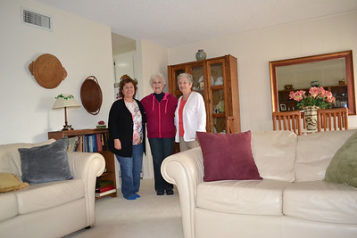 Mom's birthday visit with sisters Kathy and Colleen