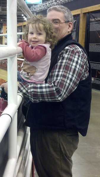 With Grandpa at the Houston Rodeo
