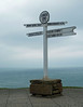 Signpost at a very windy Land's End on 10th March 2013