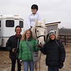 """""""Never too young or old the hang with horses."""" Horse show in Clinton County: Jessica Gray, Autumn Coxe, Madison Osbon, and Linda Rosencrans.<br /> <br /> Photographer's Name: J.R. Rosencrans<br /> Photographer's City and State: Alexandria, Ind."""