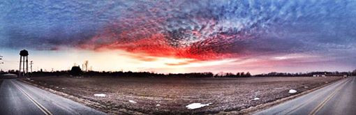 Panoramic sunset over Lapel taken by Andie Younkin.<br /> <br /> Photographer's Name: Bruce Pritchett<br /> Photographer's City and State: Lapel, Ind.