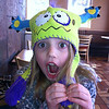 My granddaughter Lilly McIntyre having fun at Dairy Queen in her new hat.<br /> <br /> Photographer's Name: Tina Snyder<br /> Photographer's City and State: Anderson, Ind.