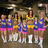 The above students from Bonnie and Sheri's Dance and Gymnastics are posing with two of the Pacemates before performing at the Pacer/Laker game on February 25. From left are Micah Hardy, Anaka Wilson, Emily Leever, Brianna Lane, Alivia Swisher, and Hailey Weston. Congratulations, girls, for a great performance.<br /> <br /> Photographer's Name: Tammy Creech-Lane<br /> Photographer's City and State: Elwood, Ind.