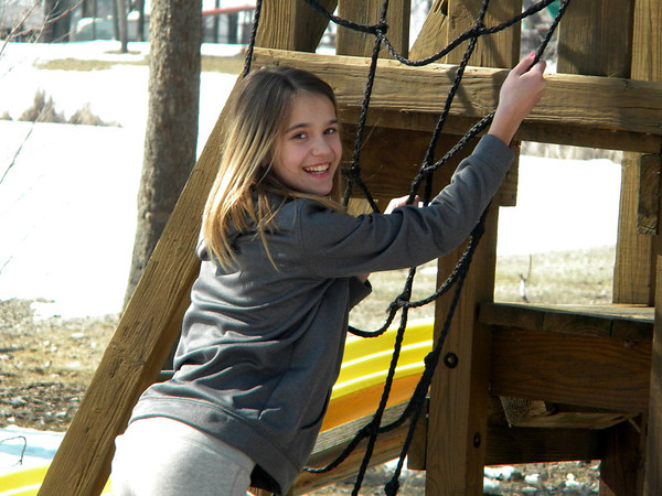 Our grandaughter Brooke Ancil was enjoying the warm day we had last last weekend, ready for spring.<br /> <br /> Photographer's Name: Rita  Drews<br /> Photographer's City and State: Anderson, Ind.