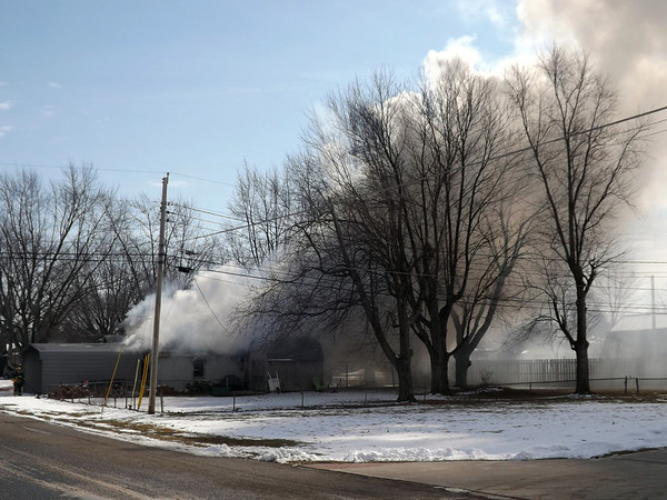 House fire in Richland Township.<br /> <br /> Photographer's Name: J.R. Rosencrans<br /> Photographer's City and State: Alexandria, Ind.