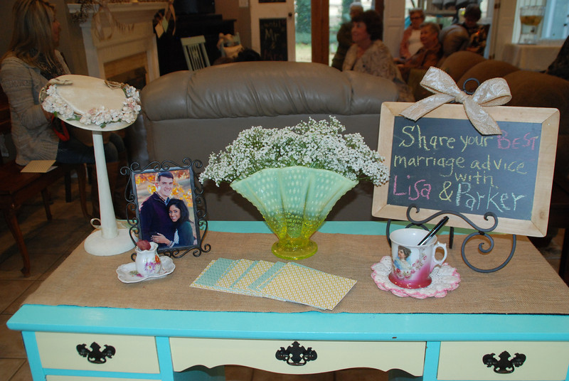 We had a great shower for Lisa!! We had fun decorating for our vintage theme.