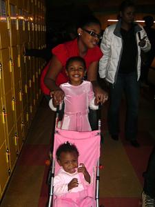 Tenia and Lauryn in stroller.