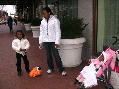 Tenia & Lauryn, Tiffany and Christopher.