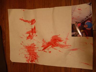 Lauryn's art work.