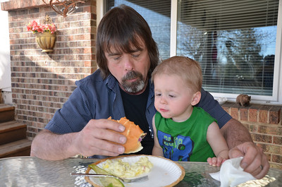 "Greg and Aiden, Aiden kept saying ""bite...bite"""