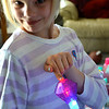 McKenna showing off one of Devyn's new birthday gifts