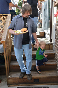 Grandpa's are the best :) Greg and Aiden getting ready for some food