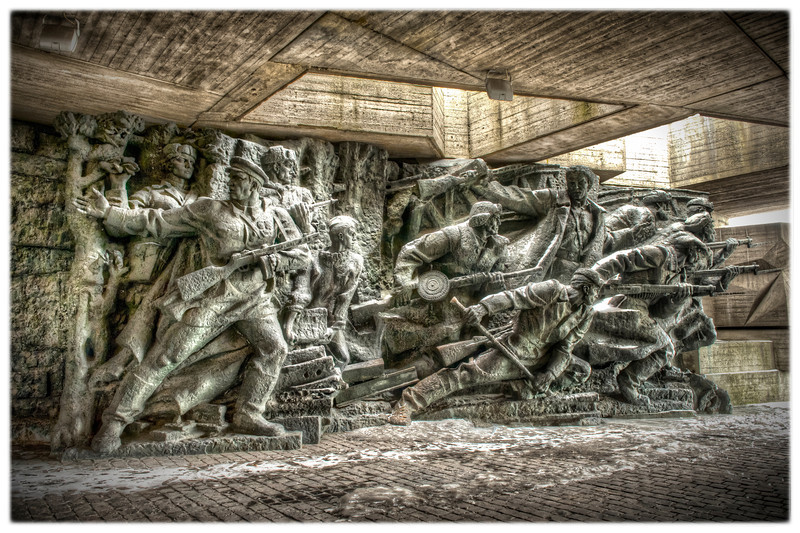 Monument outside the World War II museum, Kyiv, Ukraine.