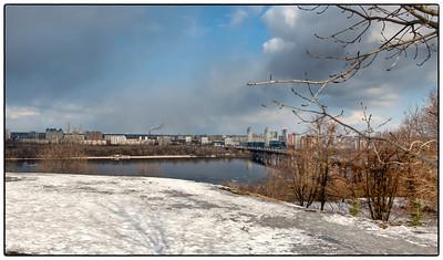 The Dnieper River at Kyiv, Ukraine.