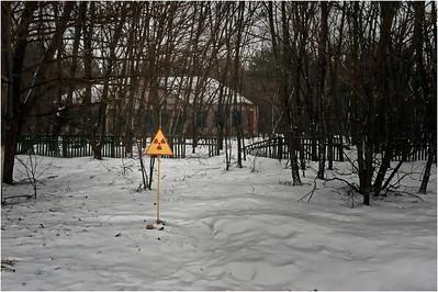 The road to Chernobyl, Ukraine.