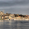 This is 1/2 of an emerging panorama from one end of the Galata Bridge, Istanbul, Turkey, left, to the other. This photo will expand to cover the horizon off to the right.
