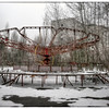 Playground inside the 30-kilometer Chernobyl Exclusion Zone, Pripyat, Ukraine.