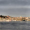 This is 5/8 of an emerging panorama from one end of the Galata Bridge, Istanbul, Turkey, left, to the other. This photo will expand to cover the horizon off to the right.