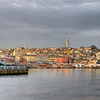 This is 1/4 of an emerging panorama from one end of the Galata Bridge, Istanbul, Turkey, left, to the other. This photo will expand to cover the horizon off to the right.