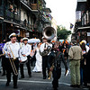 After a wedding, the bride and groom have the ability to have a walking procession around the French Quarter..