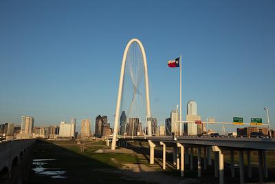 Sunset Margaret Hunt Hill Bridge, Dallas, Texas