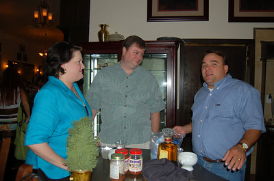 The winner (in blue) her husband and David.. he made a pretty good marg! :) and the candy Jalepenos were nice too!