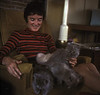 1973: With Eleanor's Persian kittens