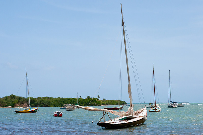 Boats anchored at Las Croabas. Fajardo, PR<br /> <br /> PR-070802-0096