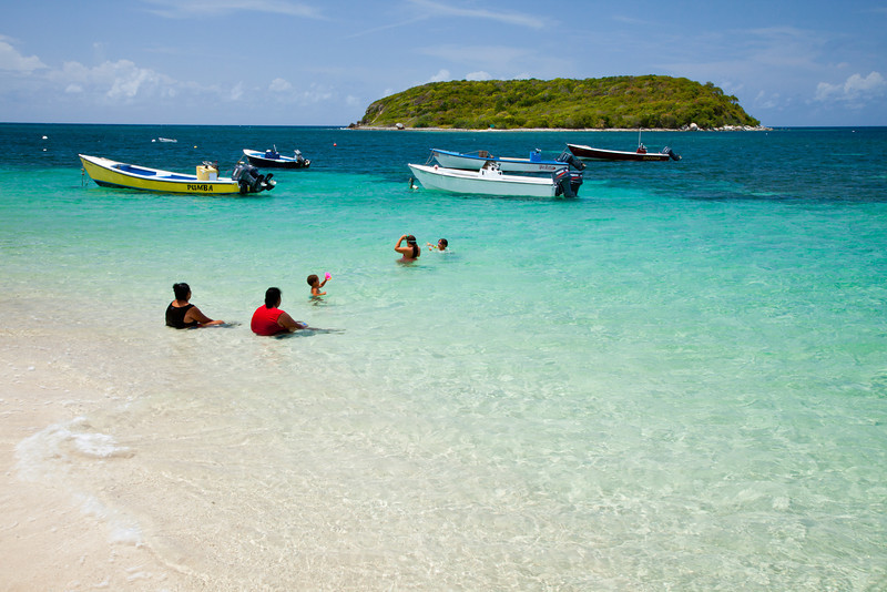 Locals enjoy the beach at la Esperanza during a warm summer day. Vieques, PR<br /> <br /> PR-090812-0145