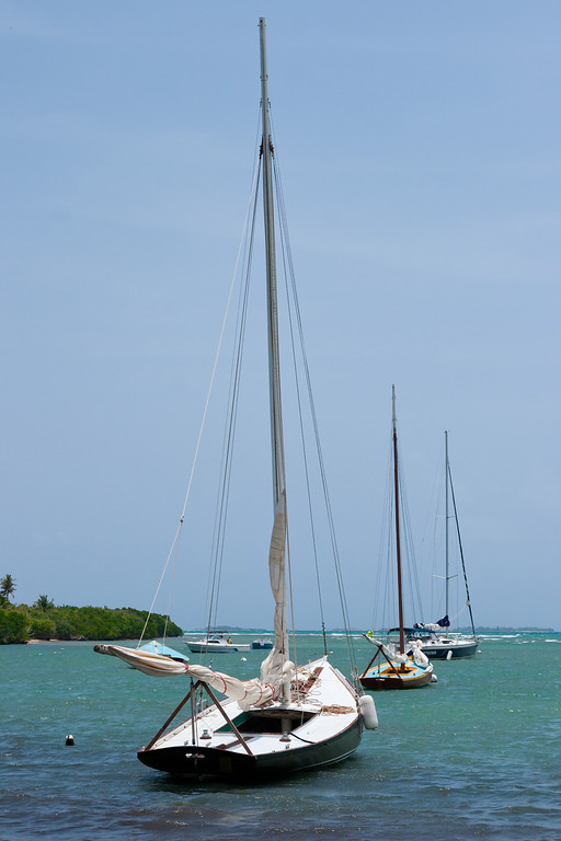 Sailboats anchored at Las Croabas. Fajardo, PR<br /> <br /> PR-070802-0090