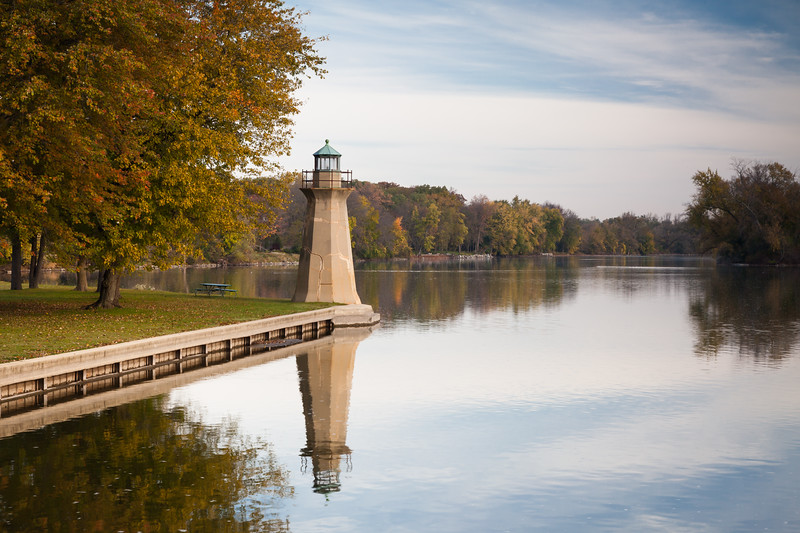 Display of Autumn color along the Fox River on the Fabyan Forest Preserve. Geneva, IL<br /> <br /> IL-111022-0055