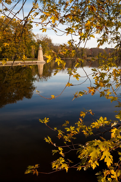 Display of Autumn color along the Fox River on the Fabyan Forest Preserve. Geneva, IL<br /> <br /> IL-111022-0067