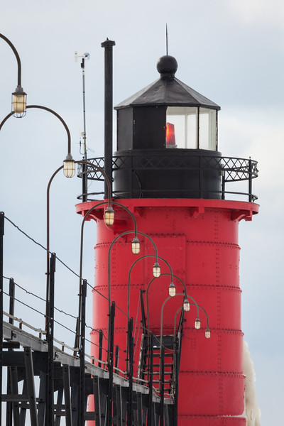 south Haven catwalk lights. South Haven, MI<br /> <br /> MI-090125-0108