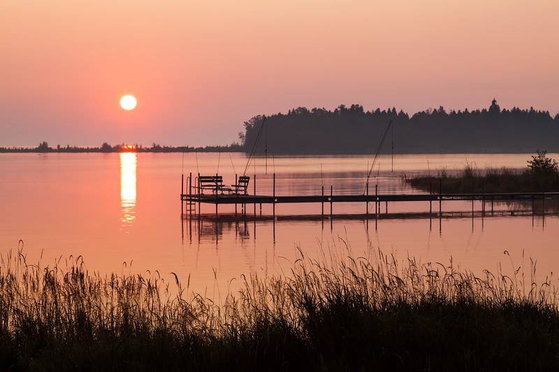 Sunrise over Moonlight Bay. Baileys Harbor, WI<br /> <br /> WI-090907-0001
