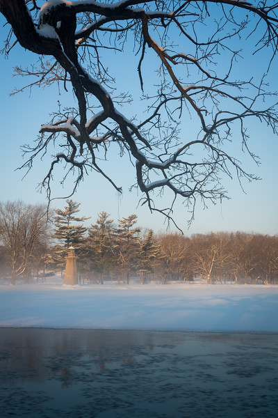 Winter Fog on the Fox