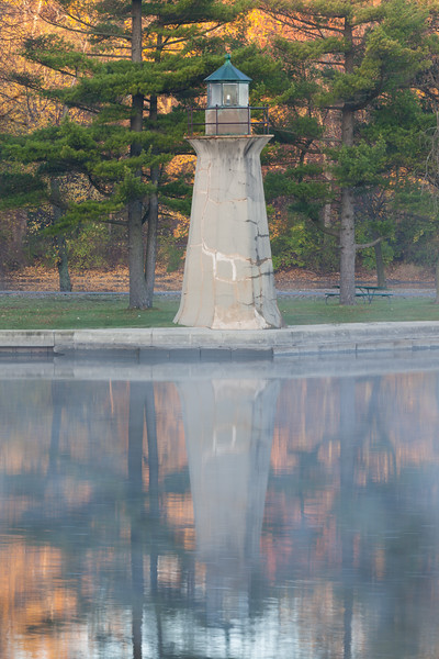 Fabyan Lighthouse in Fall