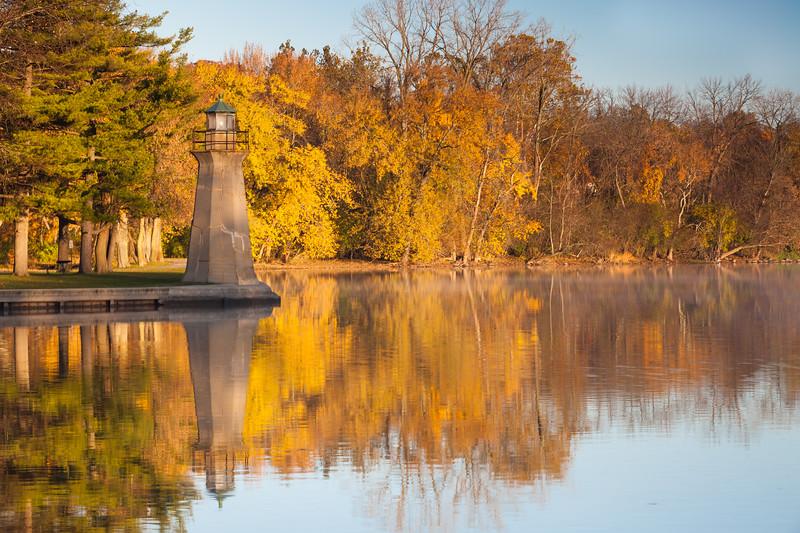 Fall color along the banks of the Fox River. Geneva, IL<br /> <br /> IL-111104-0030
