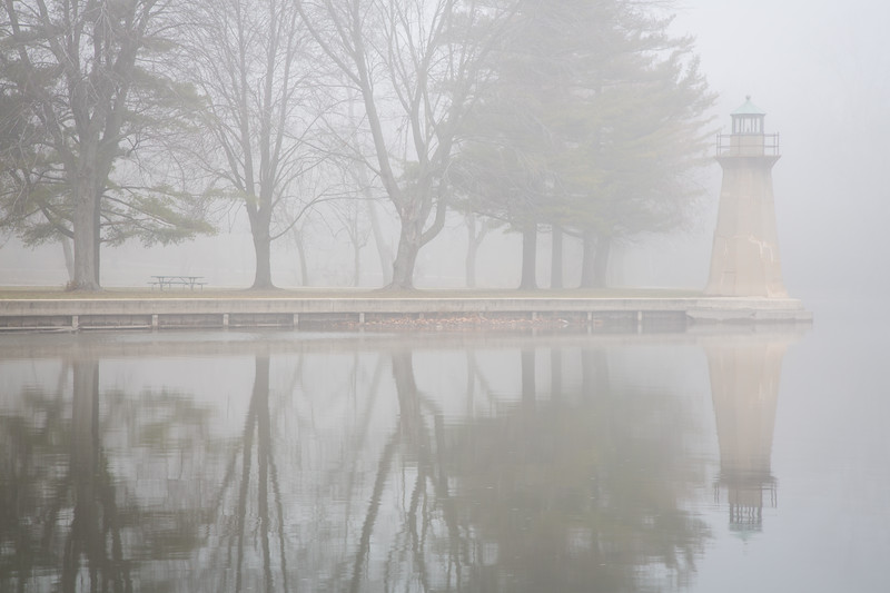 Fabyan Lighthouse in Fog